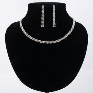 Mecresh Gorgeous Crystal Bridal Jewelry Sets Silver Color Rhinestone Flower Earrings Necklace Sets Wedding Jewelry