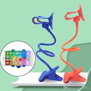 Universal Lazy Mobile Phone Gooseneck Stand Holder Stents Flexible Bed Desk Table Clip Bracket for Phone Flexible Holder Arm tina