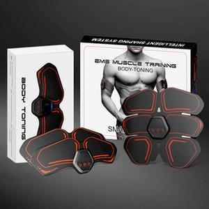 Mejor muscular eléctrica vendedora EMS músculo abdominal del ABS tóner Body Fitness Masaje Shaping Patch Siliming Trainer ejercitador unisex