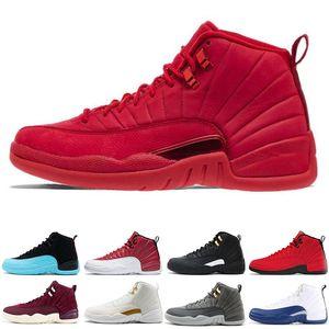 Herren 12s Basketballschuh Gym Red Bulls 12 Bordeaux Dunkelgrau The Master Flu Game Taxi o-Weiß College Navy Sport Sneaker Trainer
