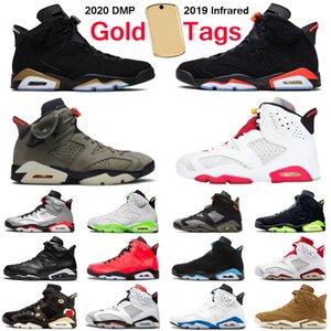 Nike Air Джордан ретро 6 6s Трэвис Скотт PSG DMP заяц фондовой x Jumpman Мужчины баскетбольные кроссовки спортивные на открытом воздухе мужские кроссовки спортивные кроссовки