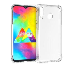 Para Samsung Galaxy A10 A20 A30 A40 A50 A60 A10 M10 M20 M30 M40 Funda Transparente Crystal Clear Soft TPU Gel Skin Volver Silicona Cubierta del teléfono