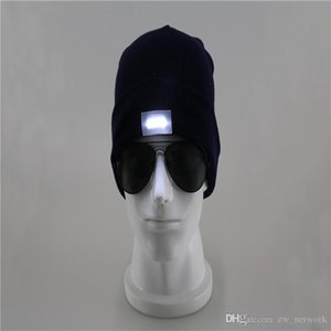 DHL! LED Lighting Knitted Hats Women Men Camping Cap Travel Hiking Climbing Night Hats Winter Beanie Light Up Caps 77