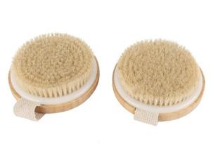 New Home Naturborsten Bad Bürstenkörper maasage Kein Griffkörper Peeling SPA Hot Dry Skin Body Holz Dry Brush