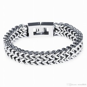 Top Quality 316L Stainless Steel Bracelet Silver Color Link Chain Mens Chain Biker Wristband Bangle Wholesale Jewelry