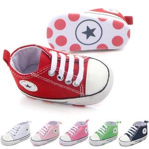 Nuove scarpe da tennis della scarpa da tennis della tela per le ragazze dei ragazzi Scarpe appena nate Baby Walker Infante del bambino Fondo morbido antiscivolo Primi camminatori