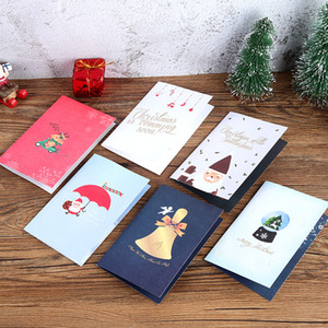 Creative 3D Pop Up auguri Cute Cartoon di Natale Invito Scheda di natale Santa Claus Greeting Cards regalo di Natale Cartolina DBC VT1114