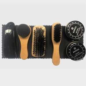 7X Trousse De Soins Brillance Outil De Polissage Transparent Polonais Brosse Ensemble Pour Les Vestes En Cuir Chaussures Baskets Bottes Cleaner ML039
