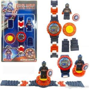 Superheld Uhren DC Marvel Avengers Actionfigur Spielzeug Cartoon Building Block-Uhr für Kinder Spielzeug Weihnachtsgeschenk Mit Kasten-Paket 65 X2221