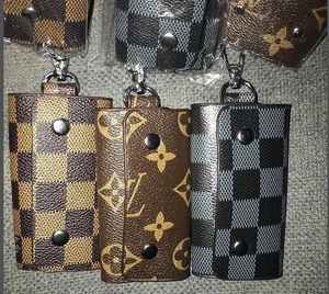 KEY POUCH Card Mini Designer Pu Credit Womens Mens CLES Brown Fashion Canvas Holder POCHETTE Purse Luxury Key Wallet Bag Charm Coin Rin Otmd