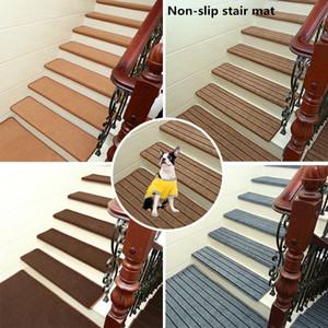 Antiderapant en bois massif Tapis marches d'escalier pour planchers durs escalier protecteurs Appareil Lavable Tapis Tapis