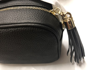 Bolsas de grife SOHO DISCO Saco de Couro Genuíno tassel zipper sacos de Ombro mulheres saco Crossbody bolsa Designer Vem com Caixa