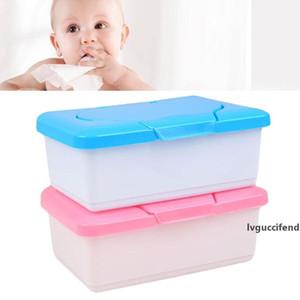 Dry Wet Tissue Paper Case Baby Wipes Napkin Storage Box Plastic Holder Container Box Design Home Tissue Holder Accessories