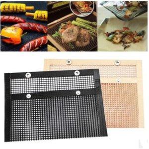 도구 22 * 27CM ZYQ444 요리 BBQ 그릴 매트 휴대용 붙지 않는 메쉬 굽고 다시 사용할 수있는 내열 바베큐 요리 매트 야외 피크닉