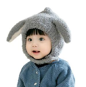 ребенок щенок уха шлема зимы толстая мягкие Beanie шапка мультфильм животные милые дети кролик ухо кролика грелка шапка мальчики девочка Шапочки шапочки