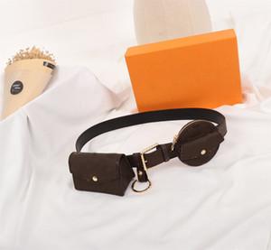 donna del design lusso quotidiano MULTI TASCA 30MM CINTURA marsupio M0236U marsupio borsa della vita della borsa della moneta delle donne confezione divertente con scatola