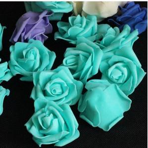 Rosa 100p seta artificiale della Rosa della camelia falso Peony Capolino 6-7cm di casa della festa nuziale Flowewrs decorativo