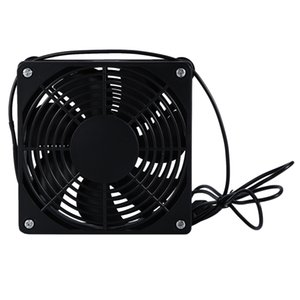 BESTDIY USB Cooler Cooling Fan for Router TV Box Silent Quiet DC5V Independent Radiator 120X25mm with Protective Net
