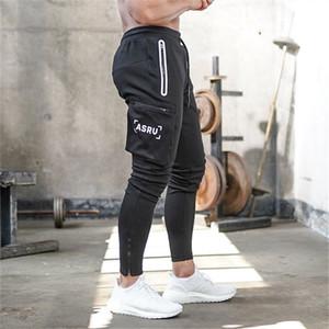 2020 New Outono Inverno Homens Camuflagem Casual Calças Calças Patchwork Sweatpants Masculino de carga Multi-pocket Sportwear dos homens Corredores T191209