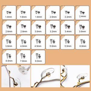 100Pcs Sunglass With Tweezer Spectacles Tiny Repair Tool Set Assortment Eyeglasses Silicone Nose Pad Micro Screwdriver Nut Kit
