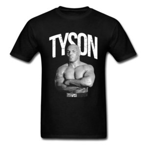 Iron Mike Tyson T-shirt For Man MMA Fighter T Shirt Mens 3D Clothing Classic Black Tshirt Hip Hop Tees Coon Tops Cool