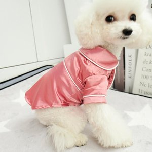 Camisa del perro del perrito de peluche suave pijamas para los pequeños perros grandes trajes de mascotas ropa del perro ropa de dormir ropa de dormir Polo Yorkshire Terrier