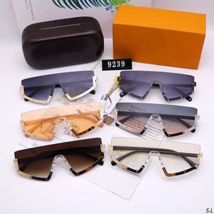 Occhiali da sole uomo occhiali da sole moda occhiali da sole uomo donna occhiali oversize occhiali UV400 9239 6 colore di alta qualità con scatola