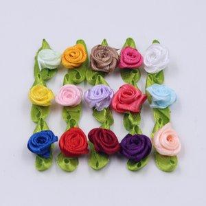 Seda Arco-nudo Mini Rosette por fuentes del partido hogar de la boda de la cinta de la torta Decoración Ropa de Scrapbooking DIY Crafts