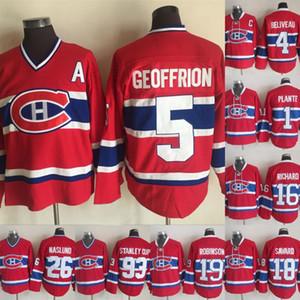 Canadiens de Montréal Mats Naslund Jacques Plante Bamie Geoffrion Henri Richard Serge Savard Maillot Larry Robinson