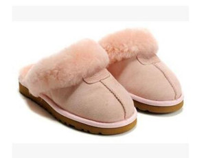 ENVÍO GRATIS 2020 de alta calidad WGG cálidos zapatillas de algodón de los hombres y de las mujeres zapatillas botas para la nieve botas de diseño zapatillas de algodón cubierta de la Mujer