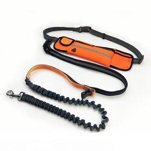 7color Mains libres taille Dog Leash avec double sandows Pet Puppy Laisses avec Hauling taille du câble Ceinture Sac pochette pour la course Aaa1087