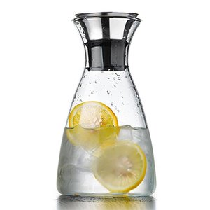 BEAU-1000ml carafe stainless steel clamshell, perfect heat-resistant iced coffee or teapot, pouring water, decanter and serving