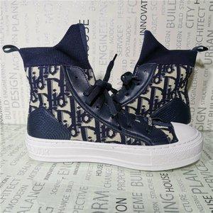 Dior b23 shoes Freies Verschiffen 2020 neue Schuhe Qualitäts-Art- und Frauen-Dame-niedrige Spitze Canvas Geprägte Mikrofaser Sneaker Sandals1988