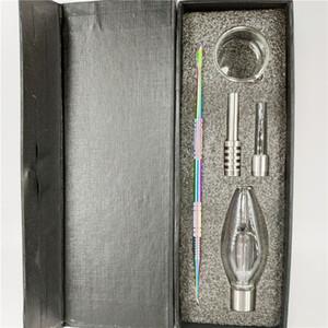 Beliebte Mini Nectar Collectorx mit einem Titannagel ein Quarz-Nagel atitanium Beschichtung DAB-Tool eine Glasschüssel