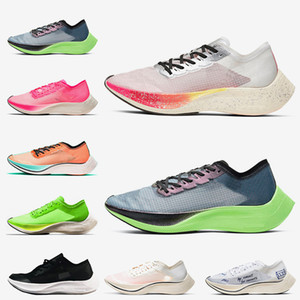 2020 Stock x Nike Zoomx Vaporfly Next% Nefes Erkek Kadın Koşu Ayakkabıları Valerian Mavi Gerçek Olabilir Volt Yelken Mavi Şerit Spor Eğitmenler Sneakers