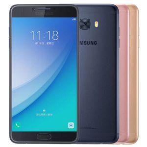 Recuperado Original Samsung Galaxy C7 Pro C7010 Dual SIM 5,7 polegadas 5pcs Octa Núcleo 4GB RAM 64GB ROM 16MP 3300mAh 4G LTE telefone gratuito DHL