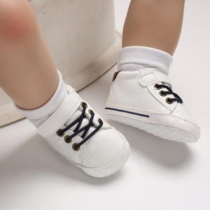 Baby Boy Casual Flat Leather Shoes 0-18M Newborn Infant Toddler Anti Slippery First Walkers