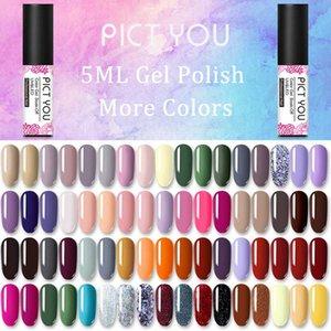 PICT VOCÊ 5ml unhas de gel polonês Soak Off esmalte Gel Polish UV prego Top Coat laca de Longa Duração Varnish