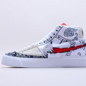 Nike SB Blazer Mid  2020 nuevo de alta calidad j retro alta Miedo UNC Chicago zapatos de baloncesto de los hombres y las mujeres del dedo del pie negro zapatillas de deporte reale