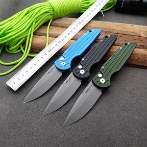 Protech cuchillo automático 6061-T6 aluminio de la aviación mango de cuchillo táctico plegable 154cm navajas hoja de supervivencia camping