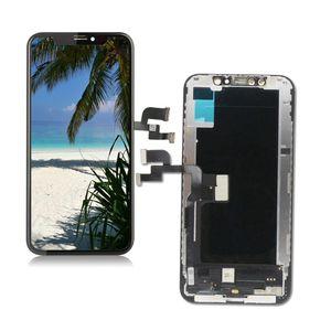 شاشة لينة / هارد لقد اخترت لفون X محول الأرقام لمس LCD TFT العرض الجمعية استبدال شاشة 5.8inch 100٪ اختبارها دي إتش إل الحرة الشحن