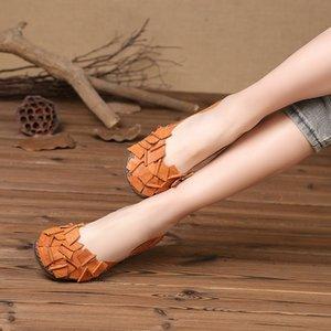 Single Shoes 2019 Season Women's Shoes Weaving Handmade Leisure Ethnic Group Wind Women's Shoes