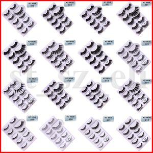 30 Styles 3D Mink Eyelashes Eye Lashes 5 pairs with Box Cross Eyelash Extension Makeup Natural Long Thick False Eyelashes Full Fake Lashes