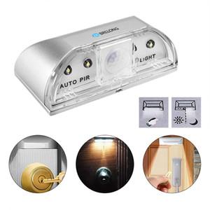 Lampe Nachtlicht Intelligente Auto PIR Türschloss Induktionslampe Türschlüsselloch IR Bewegungsmelder Wärmemelder 4 LED Smart Light