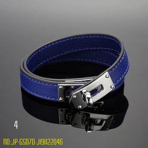 Bracelet pour femme en acier inoxydable cuir véritable Bangles Mode Double H Lettre Bracelets Argent Bracelet Designer Marque Jewelrys pour homme