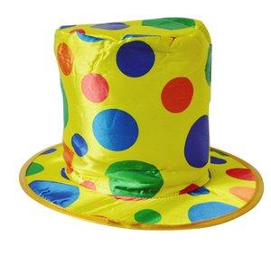 Производительность волшебная шляпа высокое качество Женщины Мужчины Горошек Цирк Партии Шляпа Хэллоуин смешно Клоун точка