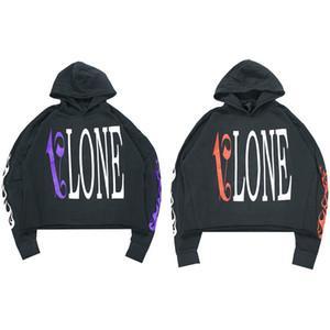 Vlone Hoodie Hip Hop Hoodie de haute qualité Noir Hommes Styliste Sweats à capuche Sweats Hommes Femmes Taille S-XL