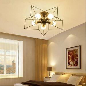 أضواء السقف الأمريكية خمر الحديد الأسود الممر شرفة للمنزل ديكو مصباح البنتاغون