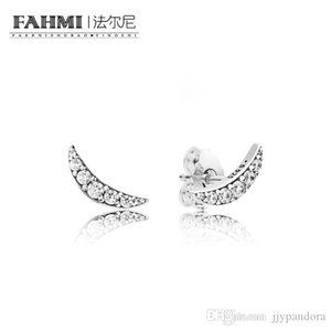 HYWo 100% 925 Sterling Silver 297569CZ Lunar Light Earring Studs Original Women's Winter Fashion Gift Jewelry