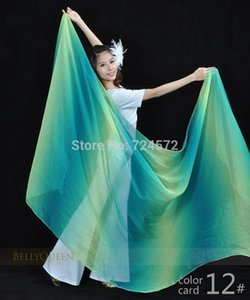 Belly dance veils Silk scarf hand throwing hand yarn scarf for belly dancing veils